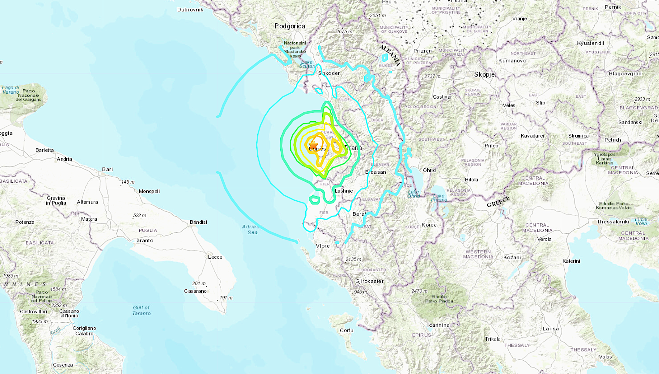 Cars crushed in Albania following powerful 5.6-magnitude earthquake