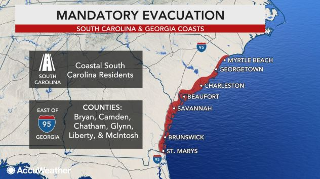Evacuations graphic dorian