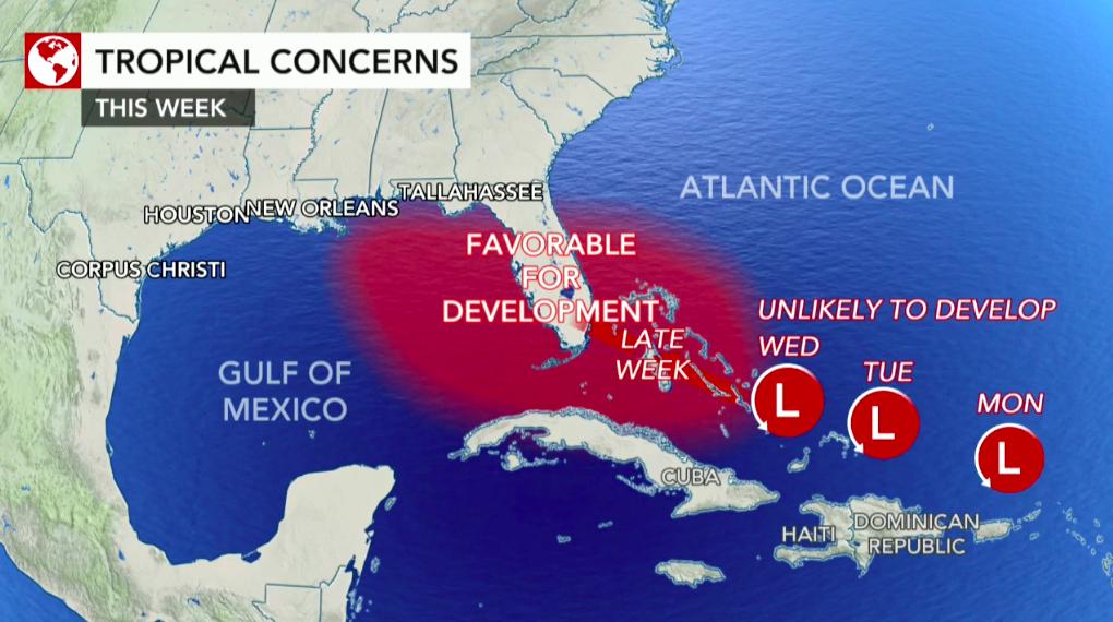 Forecasters keeping watchful eye on multiple tropical disturbances roaming across Atlantic