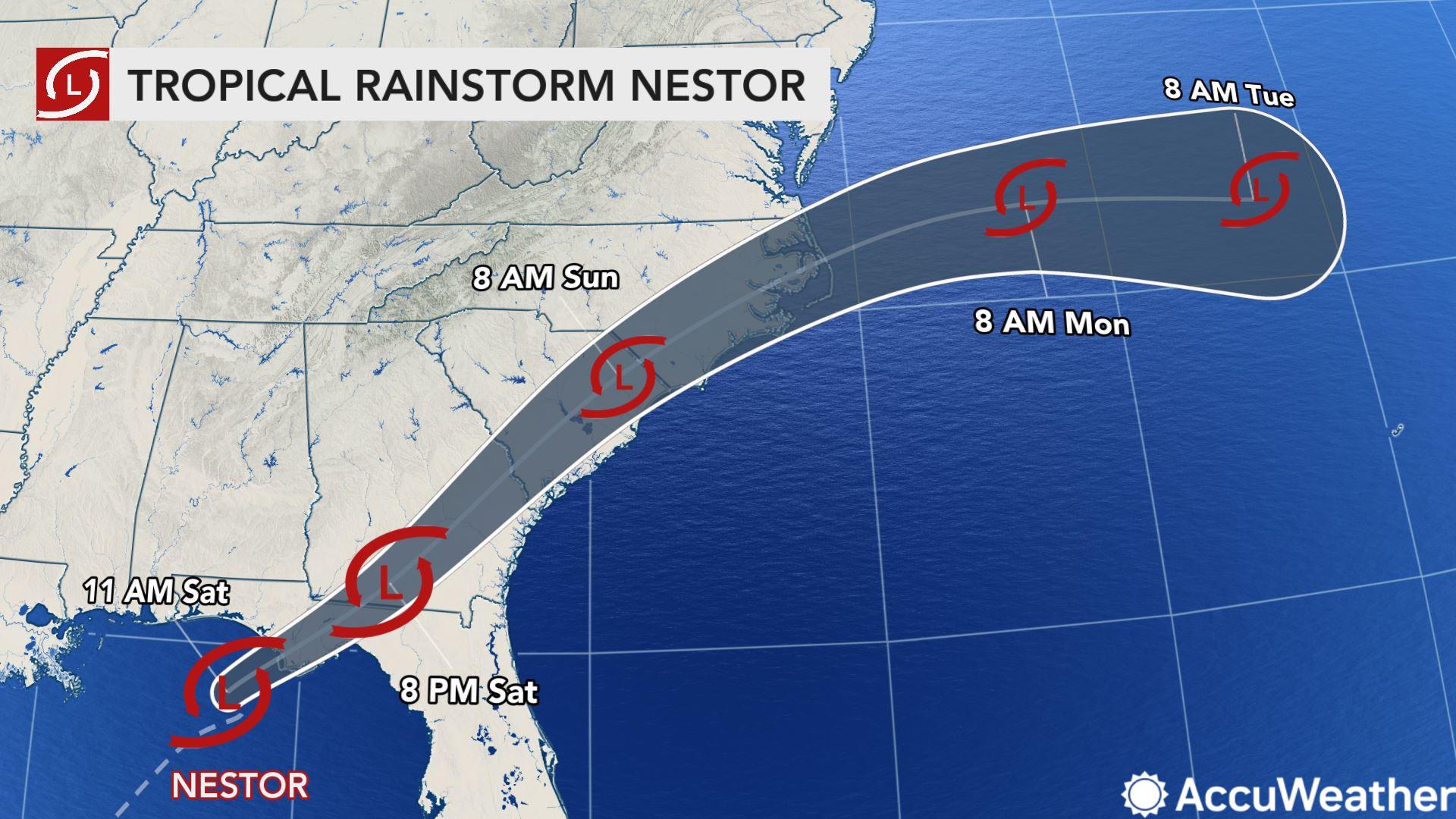 Tropical Rainstorm Nestor hours away from Florida landfall