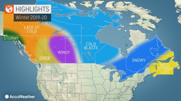 Accuweather Winter Forecast 2020.Accuweather S 2019 2020 Canada Winter Forecast The Wait Is