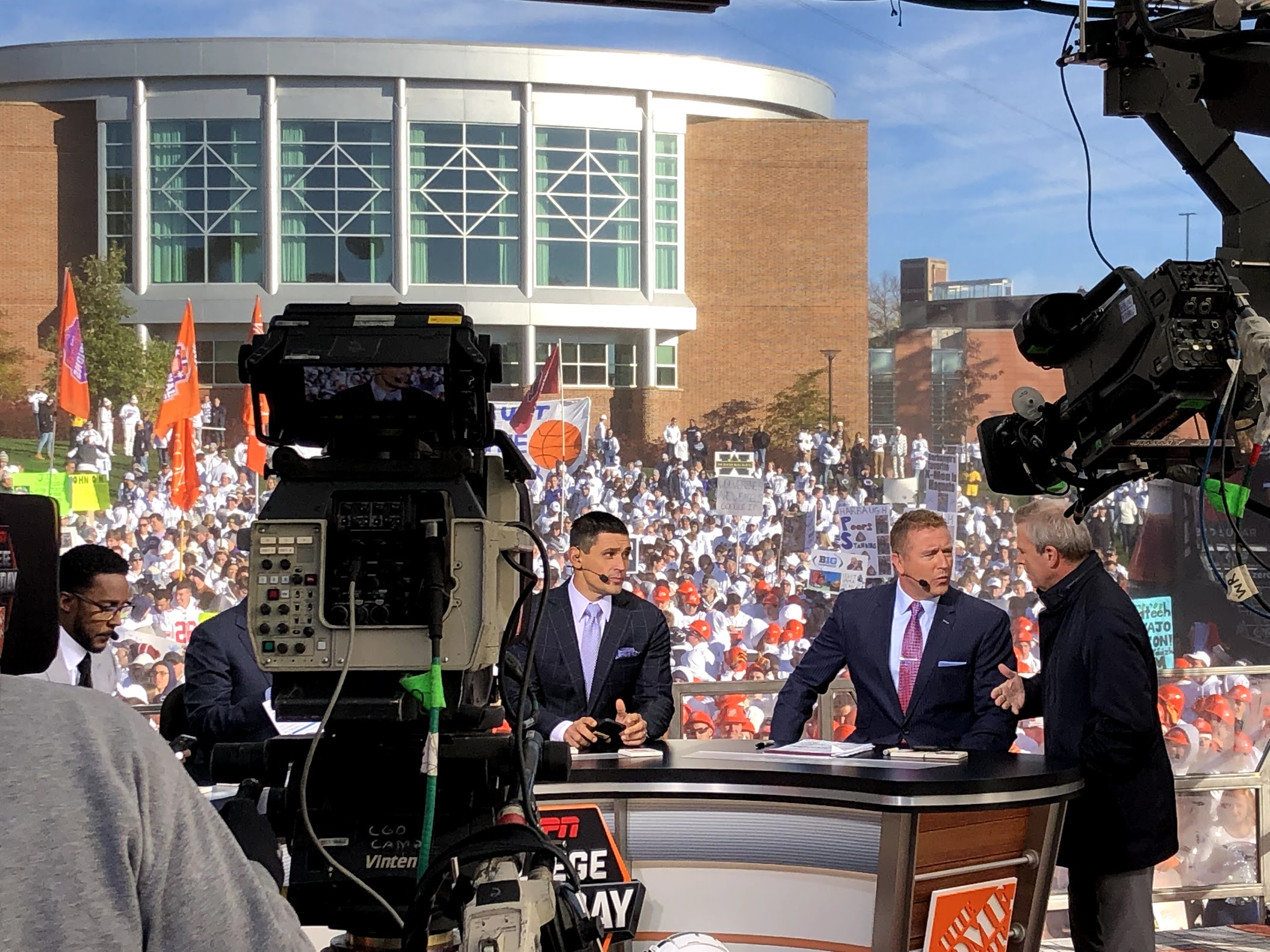 ESPN's GameDay plays on, weather or not