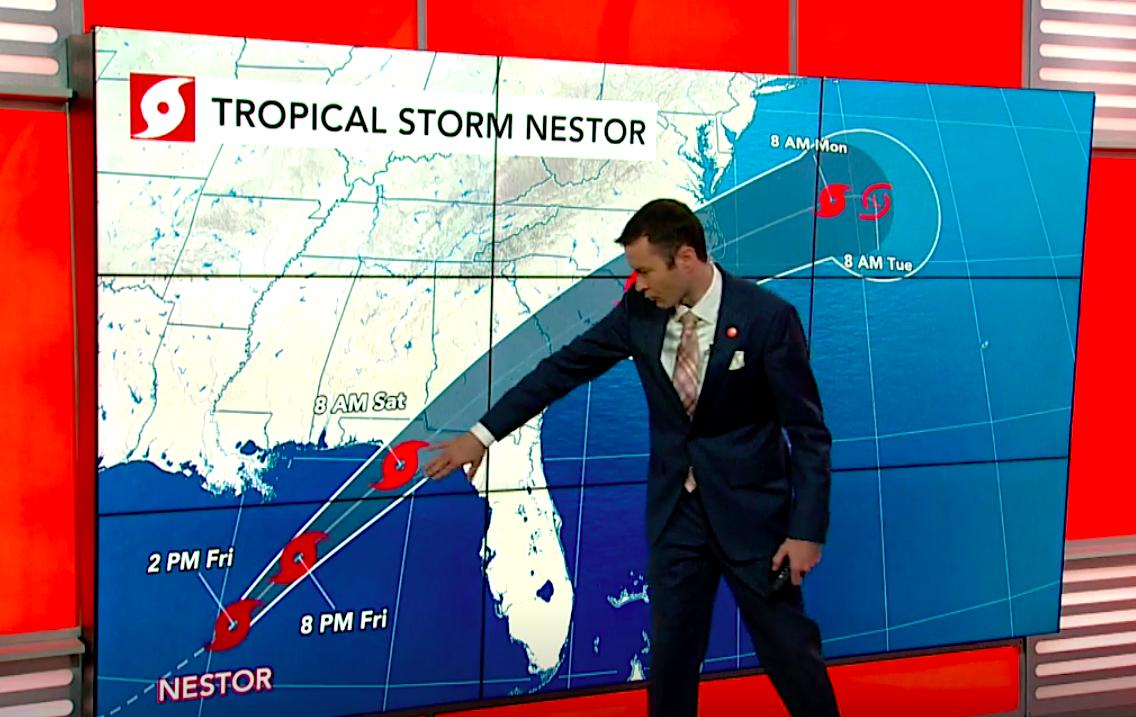 Tropical Storm Nestor barrels over Gulf of Mexico toward US