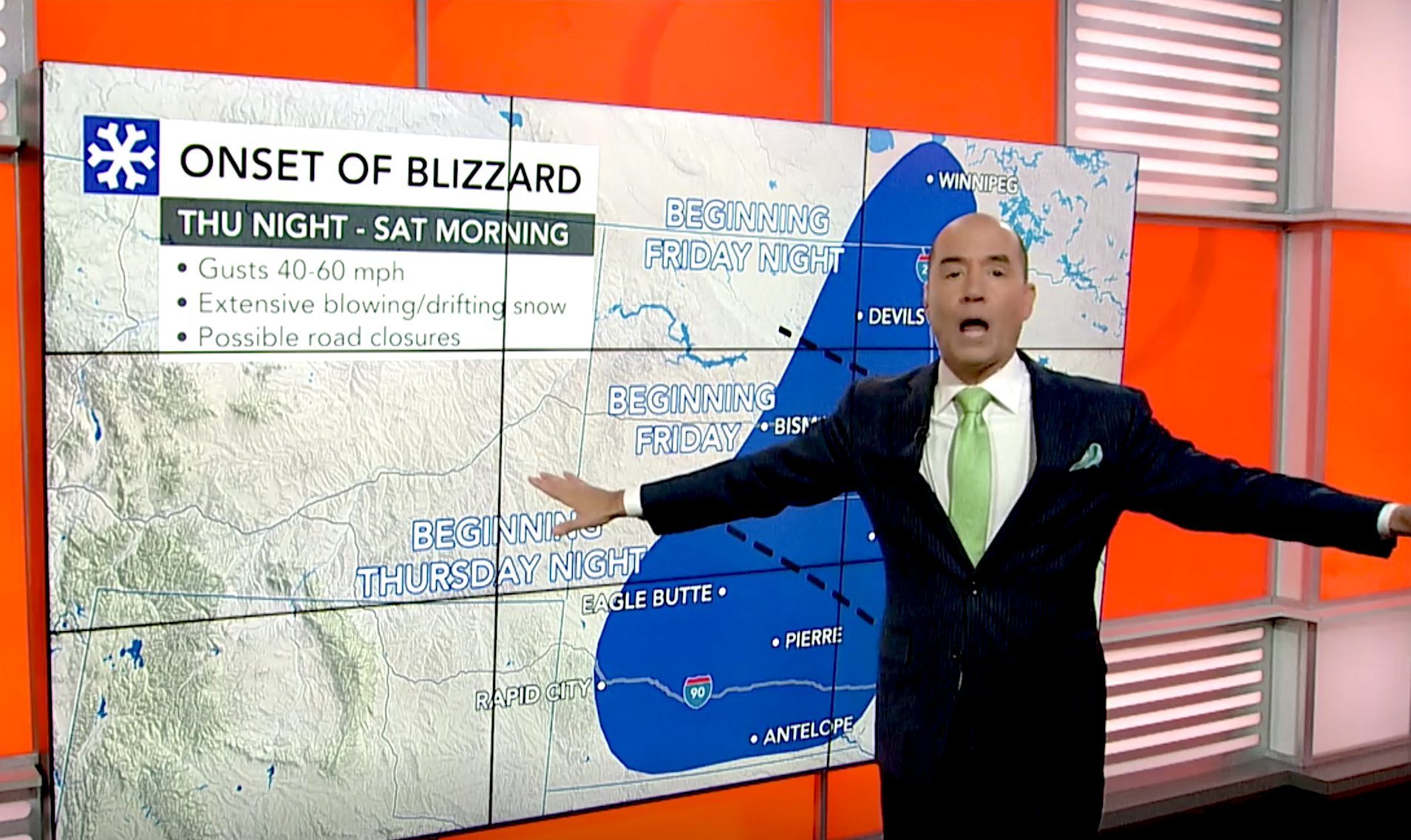 Bernie Rayno breaks down major winterlike storm lashing northern US. Wild temperature swings, gusty winds, heavy snow, blizzard conditions -- AccuWeather Chief Broadcast meteorologist discusses all of that and where the storm is going to erupt into 'an all-out blizzard.'