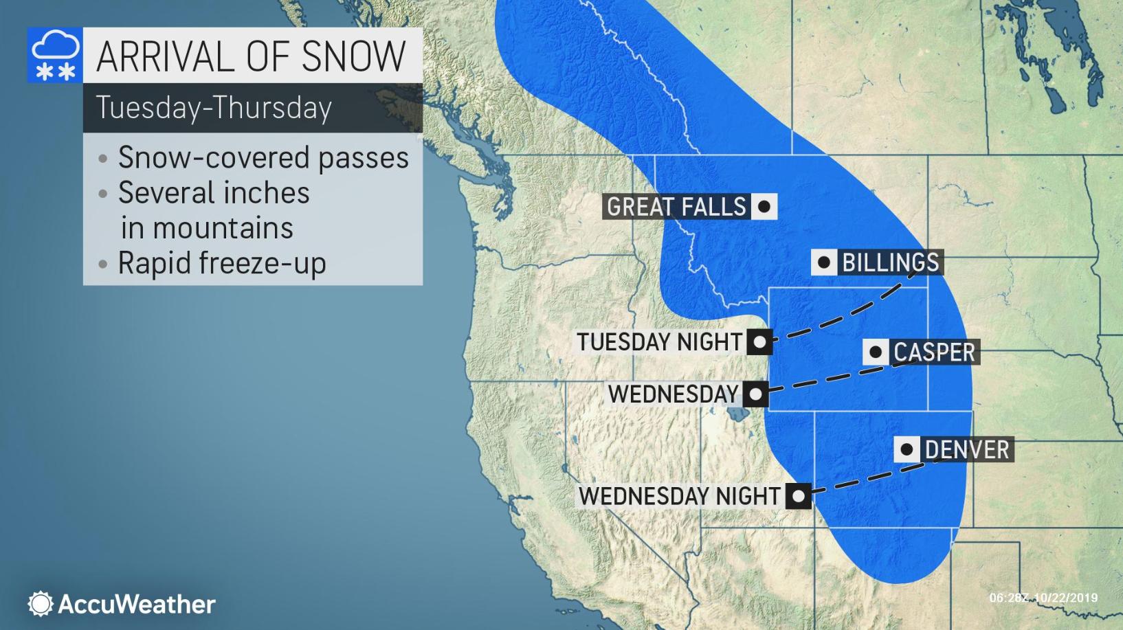 Quick-hitting snow to strike Denver, Front Range of Rockies this week