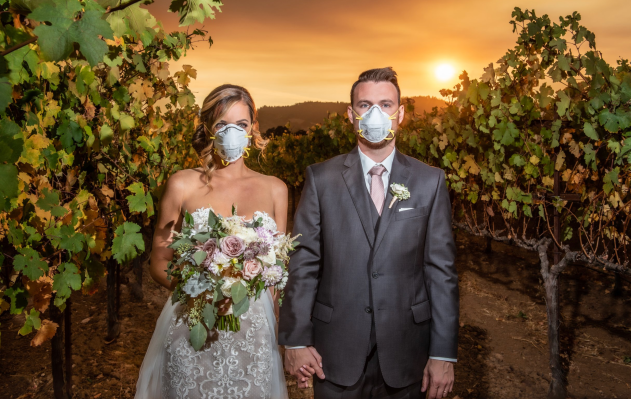 The New Normal In California Wildfire Wedding Photo Goes Viral