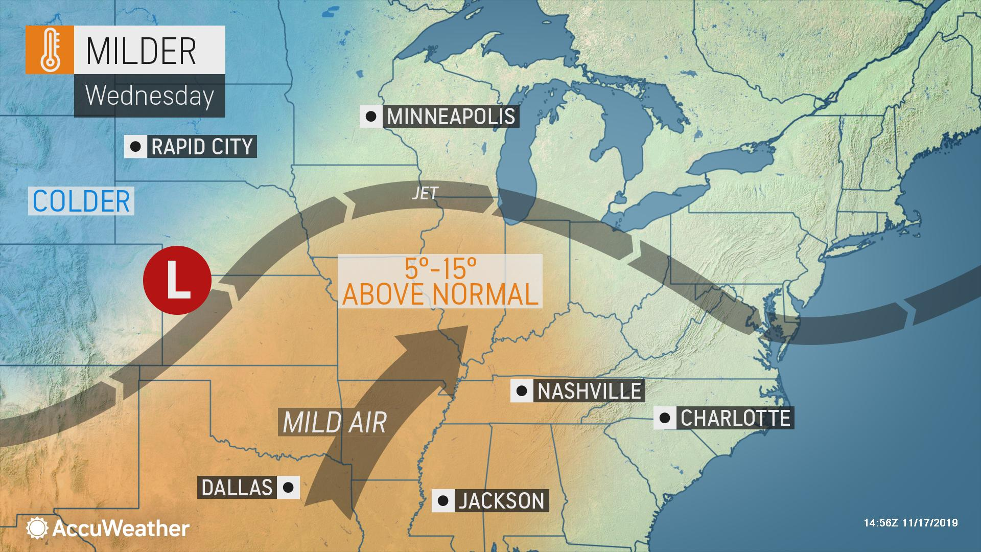 Brief relief from frigid air on tap for central, eastern US