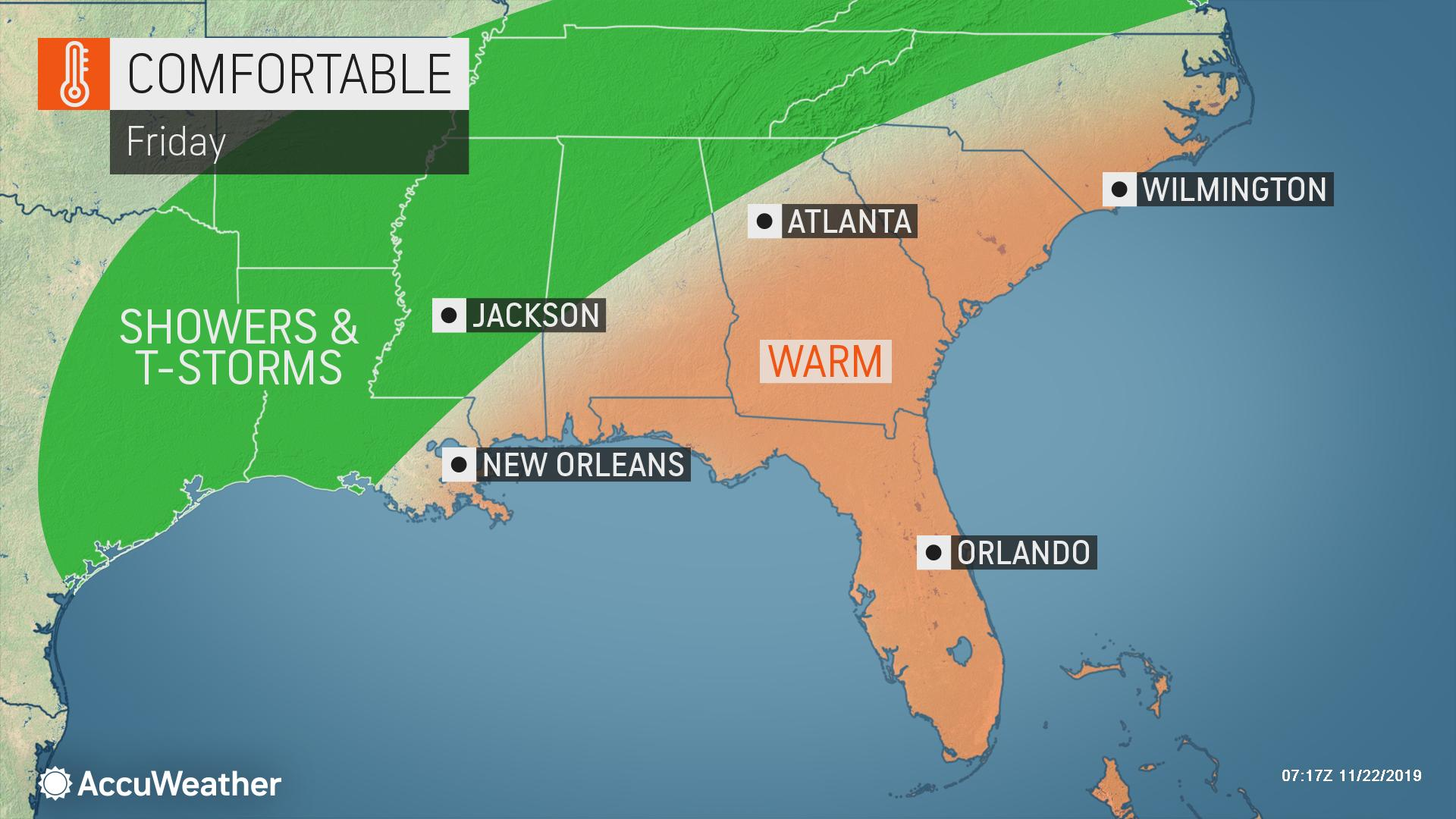Inches of rain to douse southern US, ease drought for some