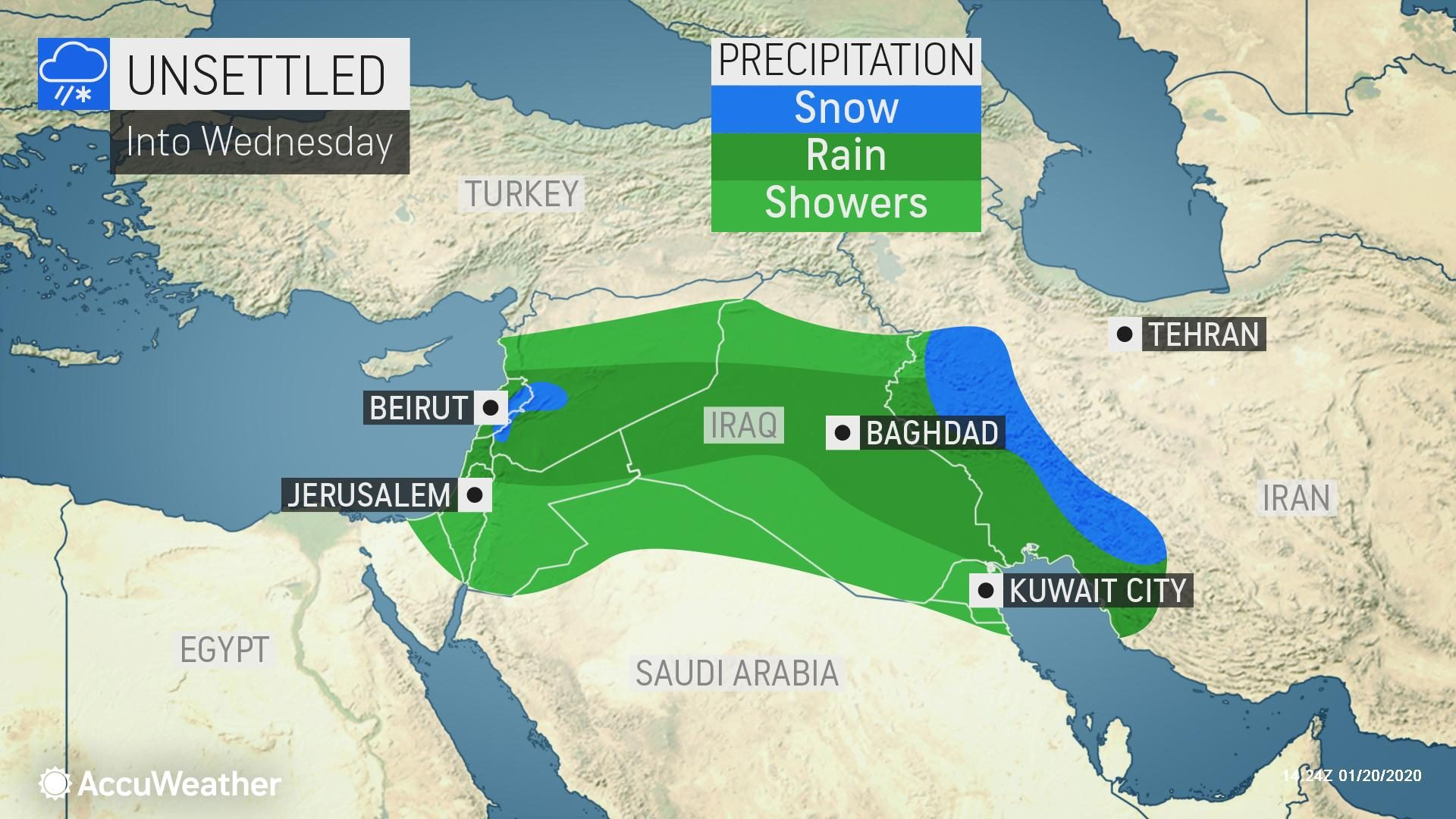 Pair of storms to unleash rain, snow across Middle East this ...