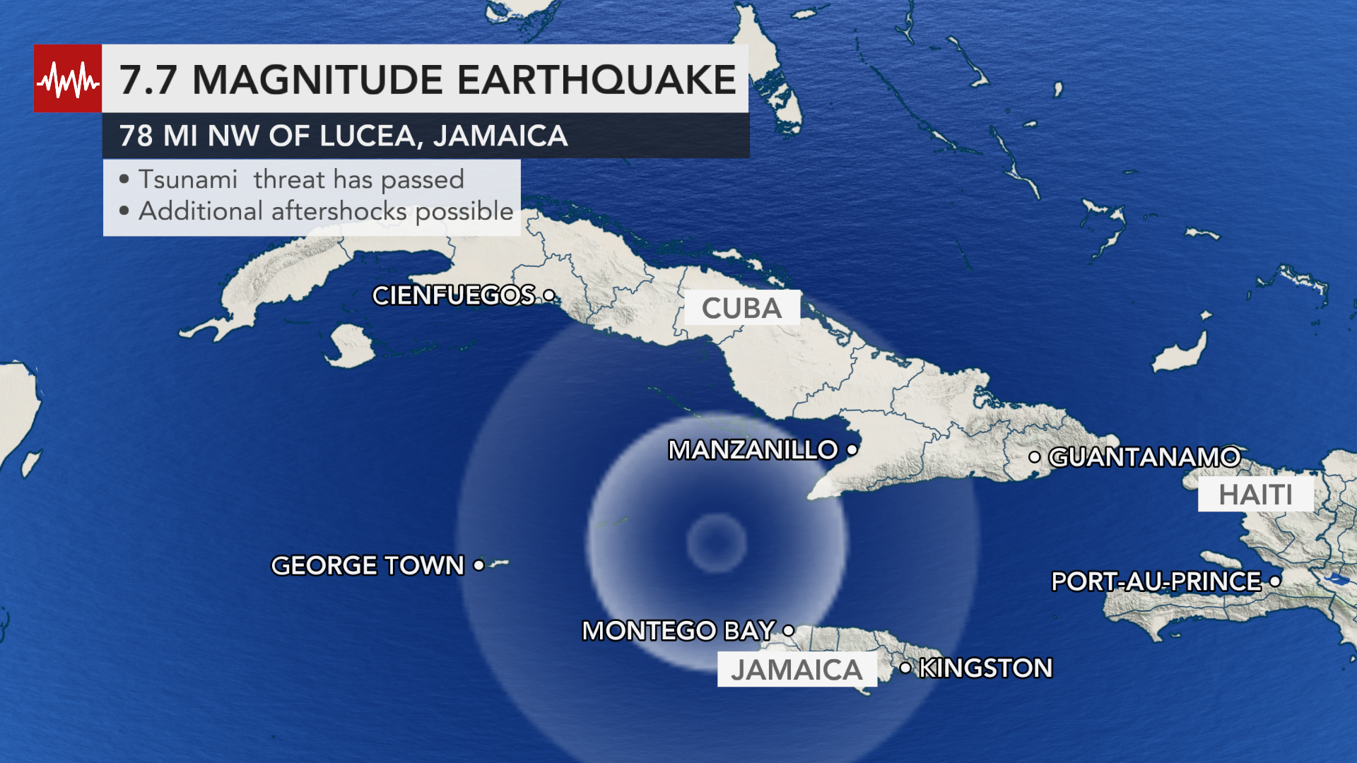 Magnitude 7 7 Earthquake Jolts Caribbean Sparks Tsunami Fears Throughout Region Accuweather