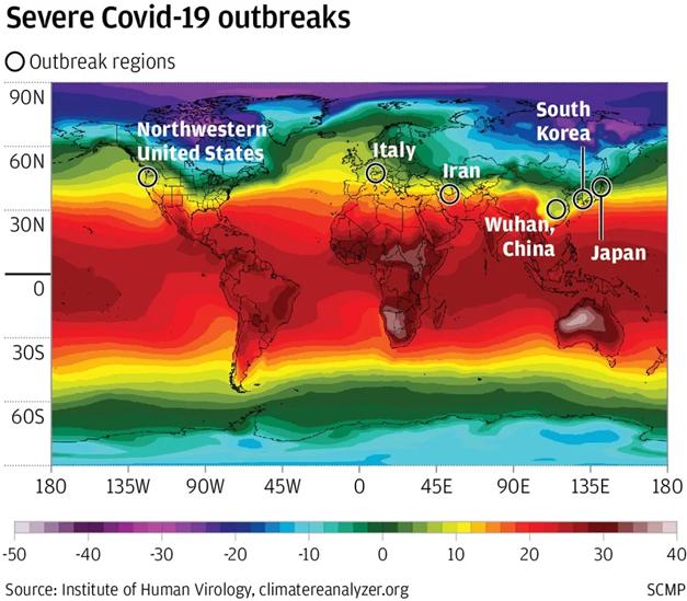 World Weather Map Temperature Deep dive: Coronavirus vs. population and temperatures | AccuWeather