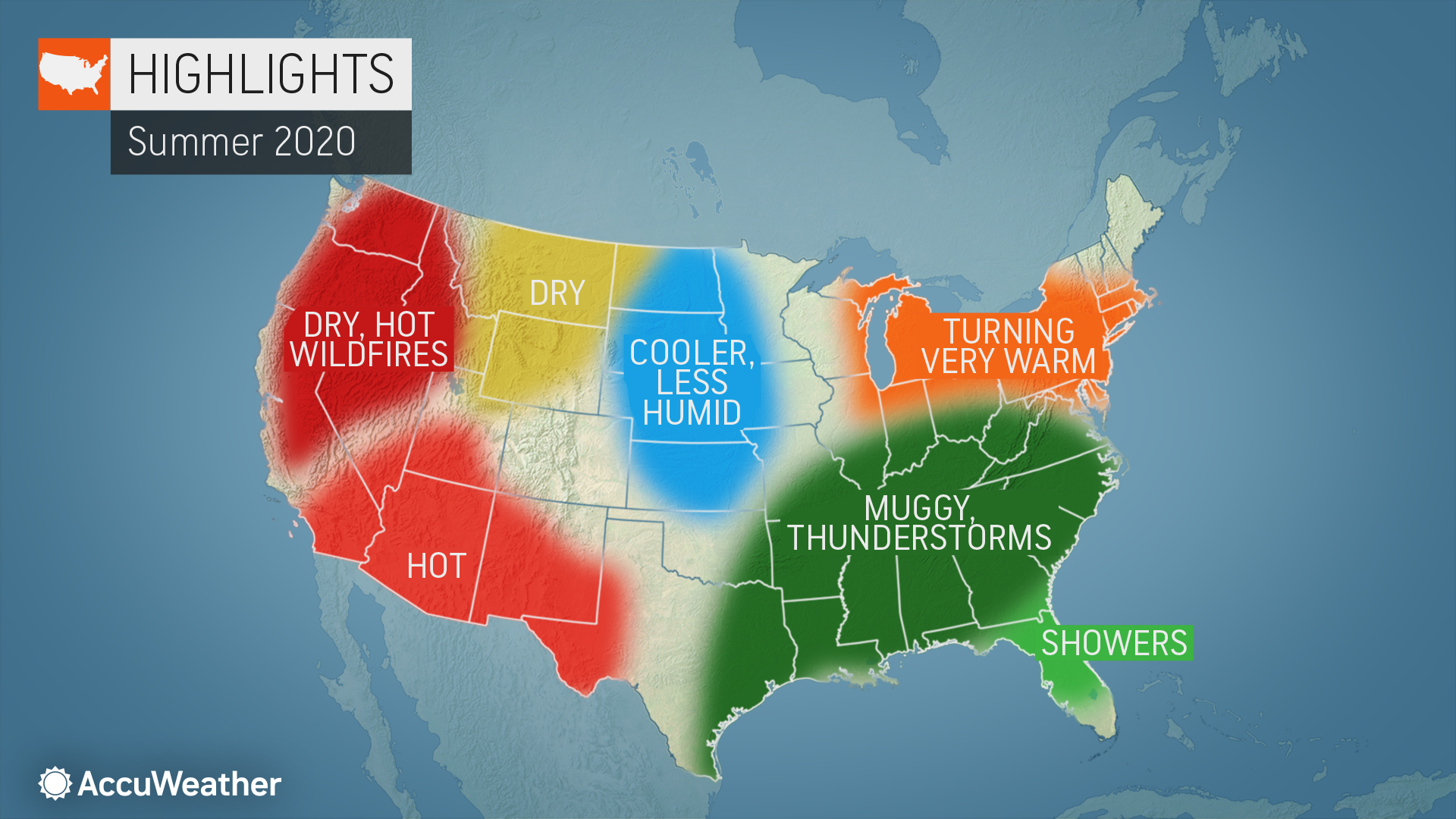 state of florida weather map Accuweather S 2020 Summer Forecast Accuweather