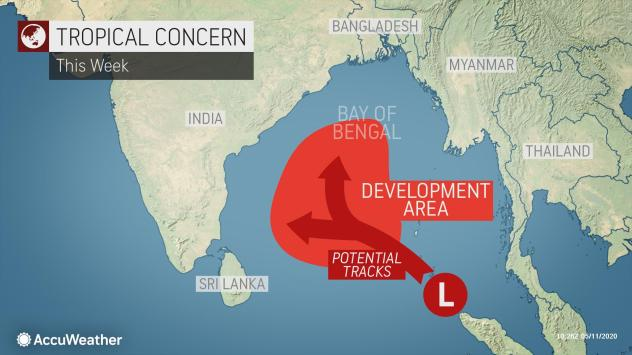 Meteorologists Monitoring For Tropical Development Near India Accuweather