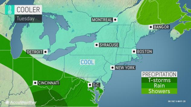 Temperatures To Tumble Dramatically In Northeast During First Full Week Of May Accuweather