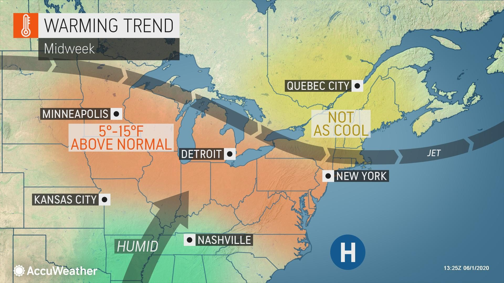 Weather roller coaster continues into June for Northeast | AccuWeather