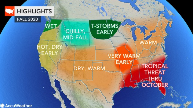Halloween Forecast For 2020 AccuWeather's 2020 US fall forecast | AccuWeather