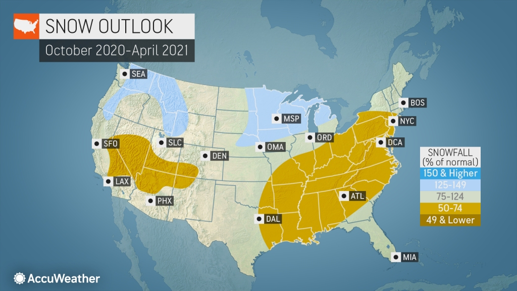 Christmas Forecast Nyc 2020 AccuWeather's 2020 2021 US winter forecast | AccuWeather