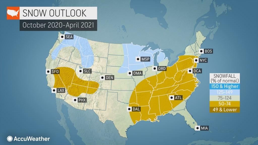 Christmas Forecast 2020 Nebraska AccuWeather's 2020 2021 US winter forecast | AccuWeather