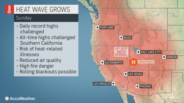 Gusty Winds To Heighten Wildfire Danger In Western Us Following Blistering Heat Wave Accuweather