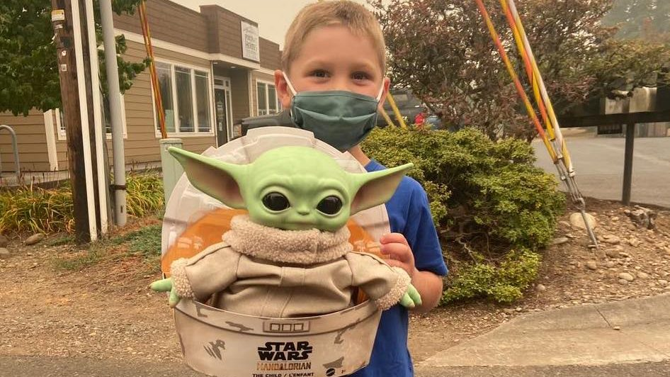 Baby Yoda Travels With Firefighters As They Battle Massive Western Blazes Accuweather