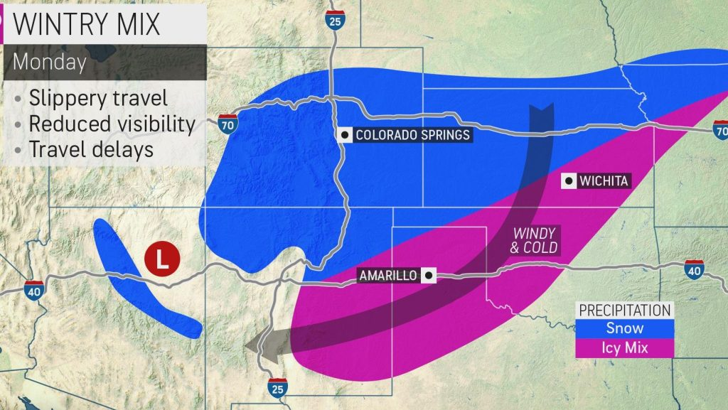 Powerhouse storm system to pummel the southern Plains with snow and ice through early week
