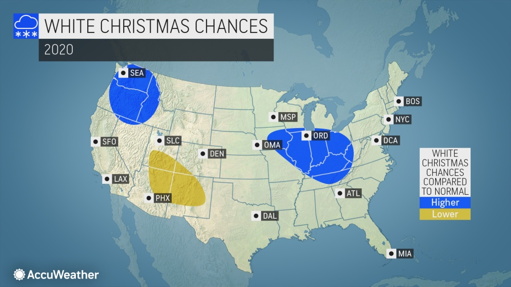 Chances For A White Christmas 2020 AccuWeather 2020 white Christmas forecast: What can you expect to
