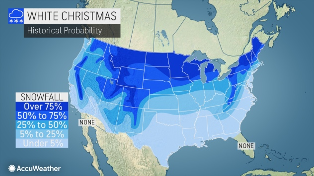Chances Of A White Christmas In 2020 AccuWeather 2020 white Christmas forecast: What can you expect to