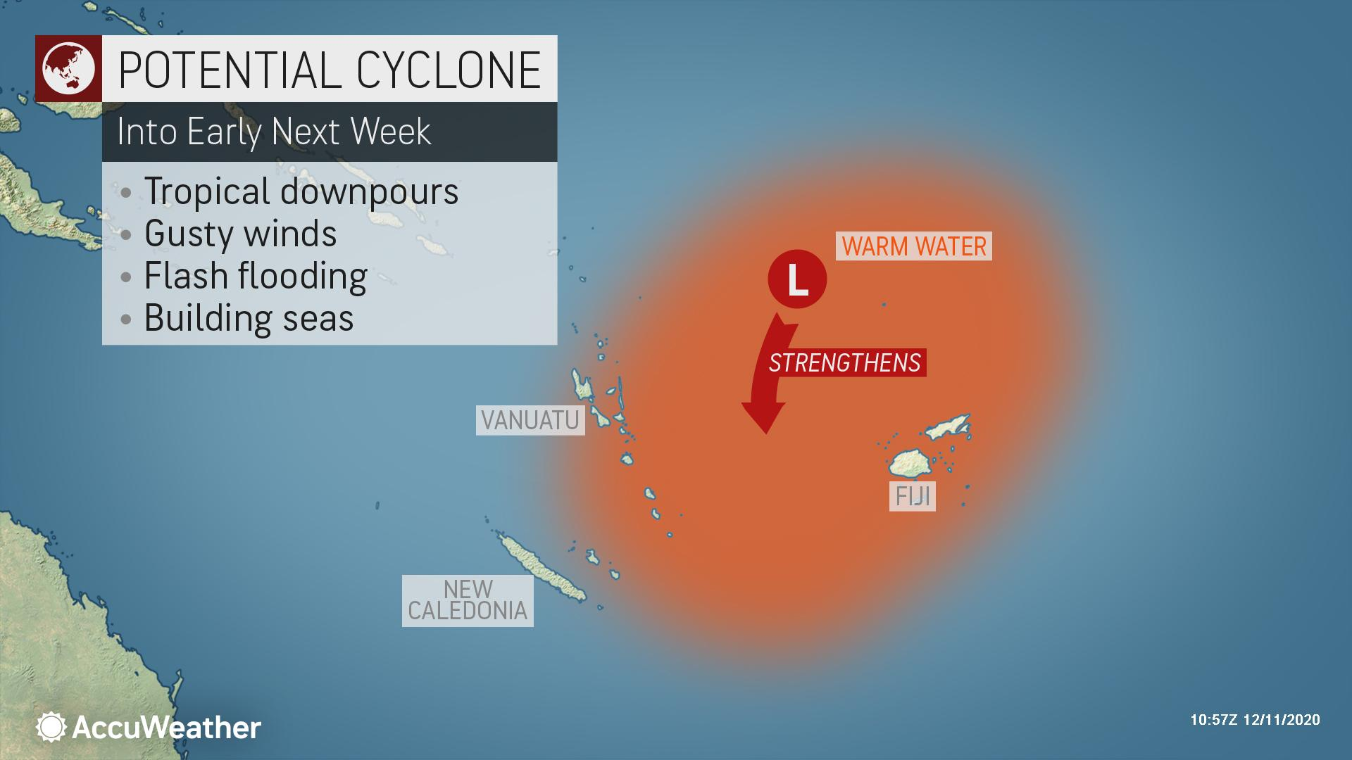 Fiji Vanuatu May Be Threatened By First South Pacific Tropical Cyclone Of The Season Accuweather