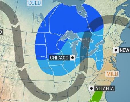 Intensifying storm to bring weather turnabout to Midwest