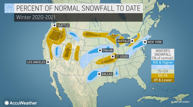 Wintry Weather to Bombard Much of US into next week