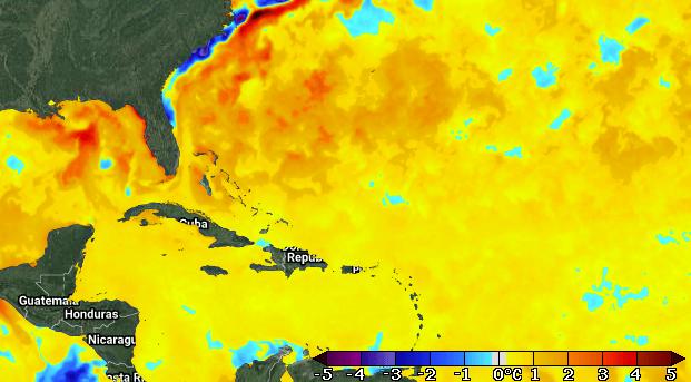 Sea Surface Temperature Anomalies 3/30/21