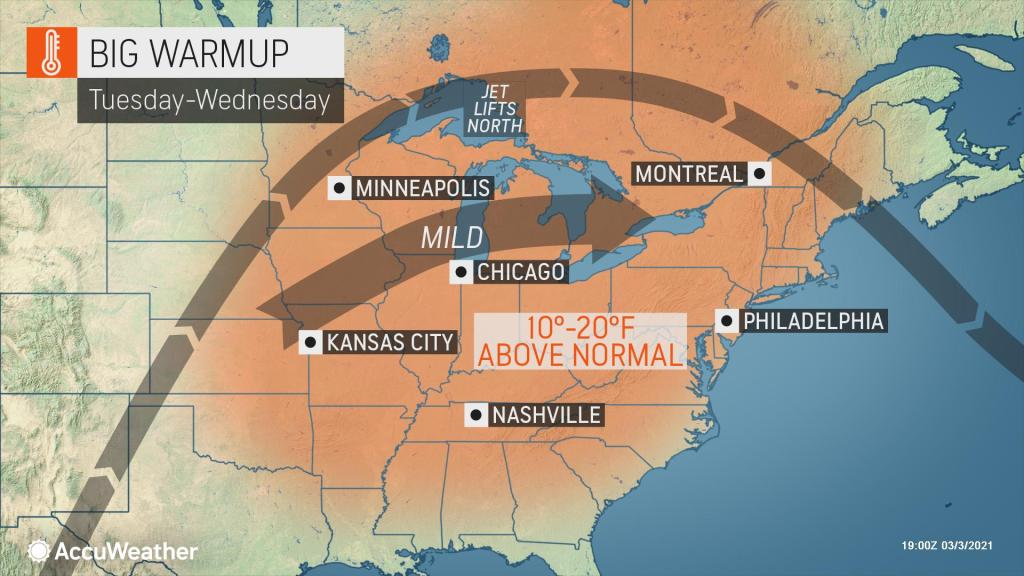 Finally! A lasting warmup is on the way for parts of US