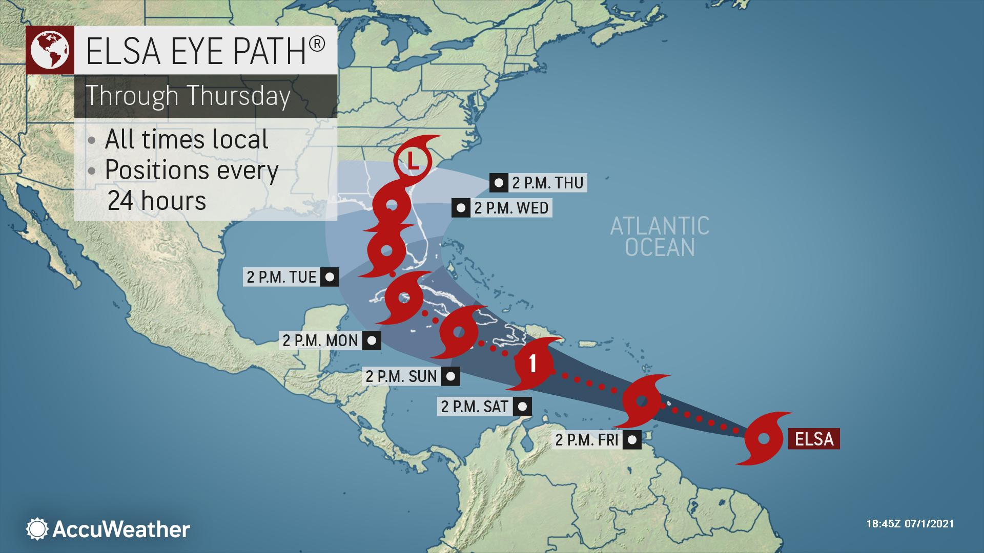 Tropical Storm Elsa Forms in Atlantic