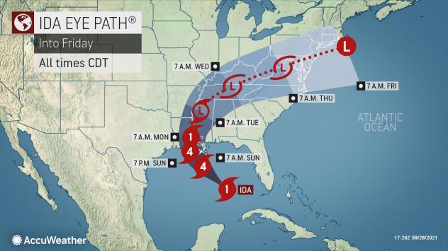 Hurricane Ida intensifying, forecast to hit Louisiana as Category 4